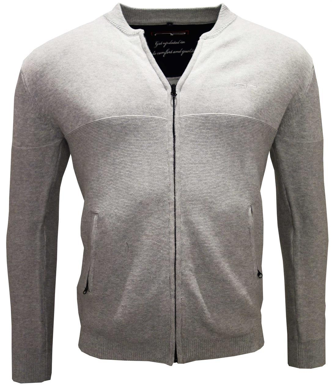 Zip Cardigan 2073 L Grey S