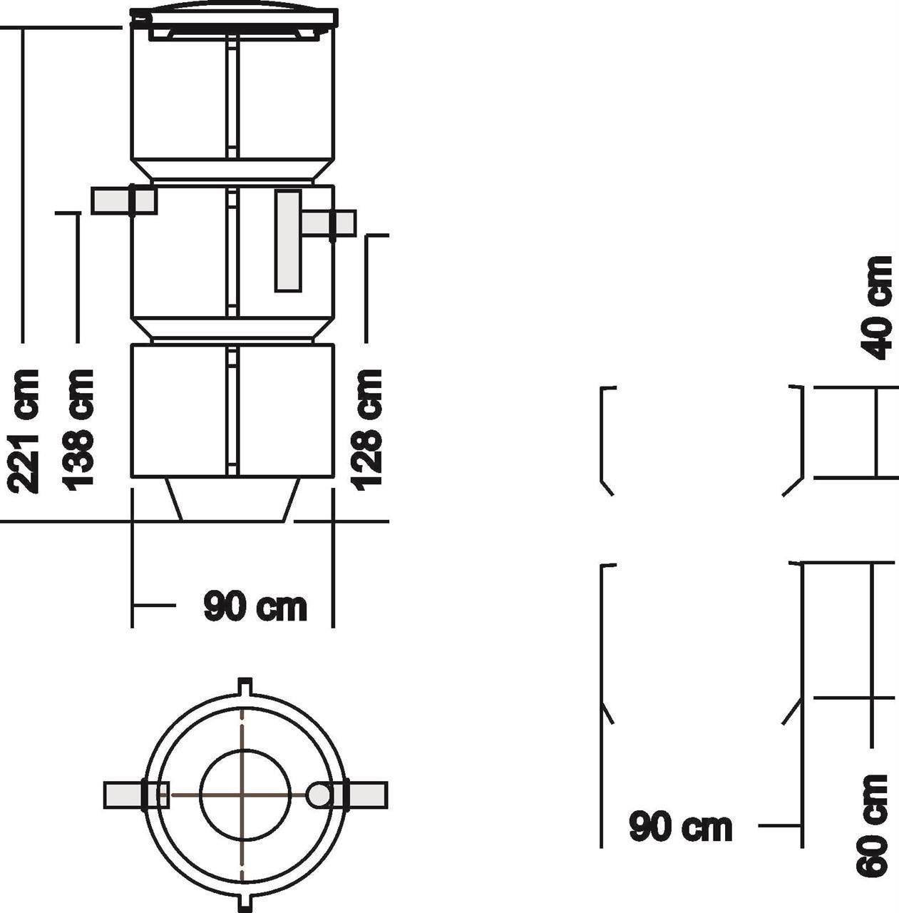 Saostuskaivo 600-800 l (tuloviem. kork 1,1-1,35 m) ,