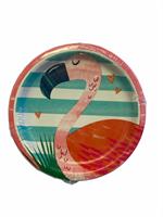 Papptallerken -Flamingo ca.18cm