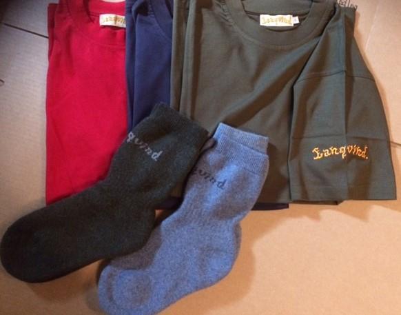 Langvind T-skjorte og sokker