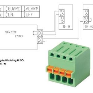 """FlowStop Easy SD 1/2"""" m/2 kuplingsmuttere"""