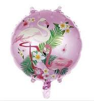 Flamingo rundt ballong 45 cm