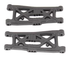 RC10B6 FT Front Suspension Arms, gull wing, carbon