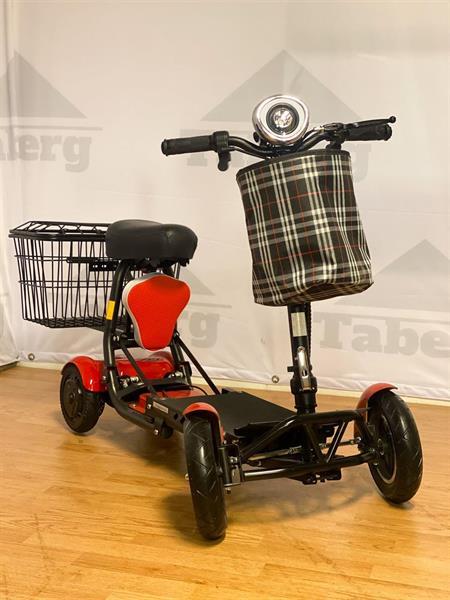 Taberg DDT077 promenadscooter röd litiumbatteri