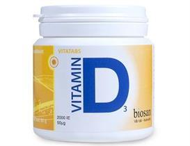Vitamin D3 50µg 2000IE, 300 tabletter