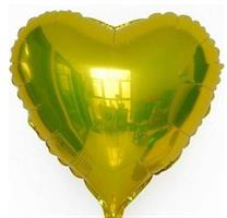 Folie -  hjerteform / Gull 4 stk