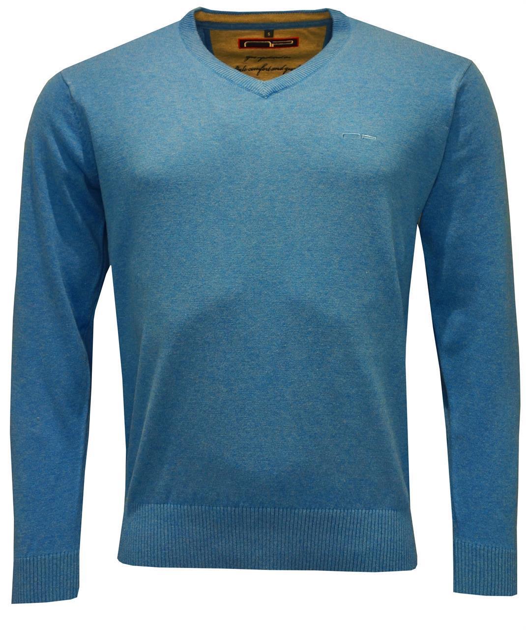 V -neck 1670 Mid Blue S