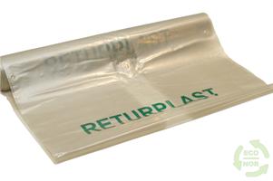 Knyttesekk med trykk Returplast 240 - ktg 140 stk