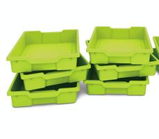 Plastback/låg gröna 6st