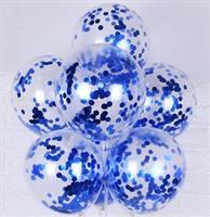 Konfetti ballong Blå 6 stk