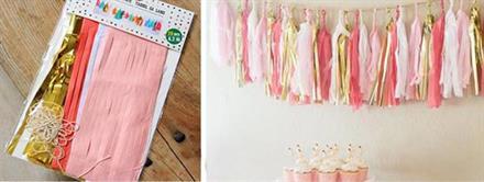 20 stk Tassel - Pink, white, dark pink, gold