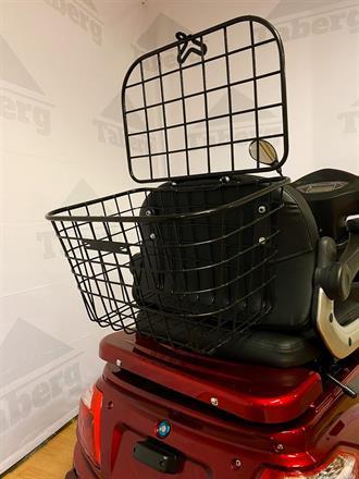 promenadscooter röd tillhörande korg