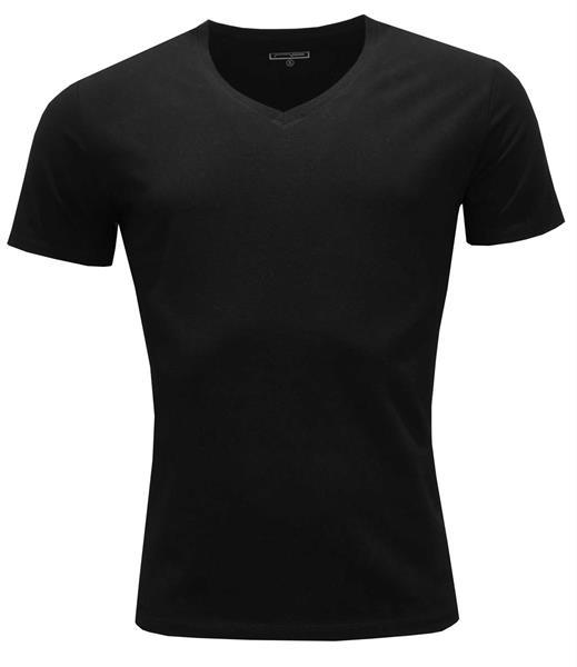 T-shirt V-neck 2100 Black S
