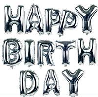 Folie - Happy Birthday / sølv