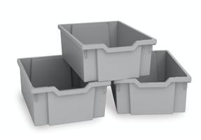Plastback/mellan grå 3st