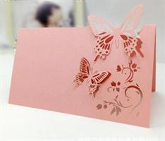 Bordkort - Gammel rosa Sommerfugl