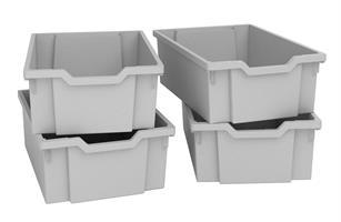 Plastback/mellan grå 4st