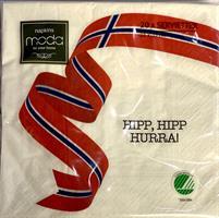 Serviett 17 Mai Hipp Hipp Hurra
