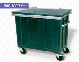 Forsterket avfallsbeholder 800 liter