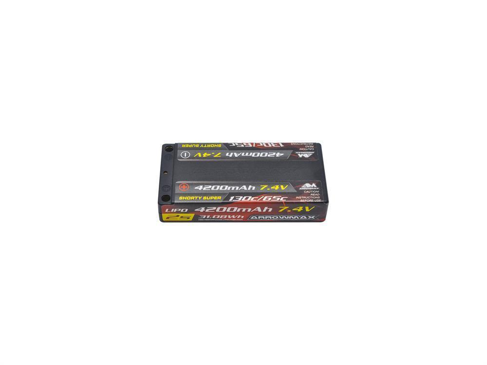 ARROWMAX Lipo 4200mAh 2S Shorty Super LCG - 7.4V