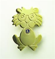 G531 - Lion caricature pin