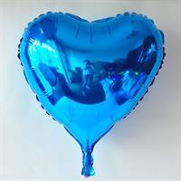 Folie Hjerte Ballong 32 cm Blå