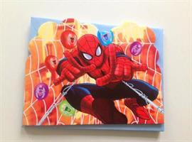 6 stk Invitasjonskort - Spiderman