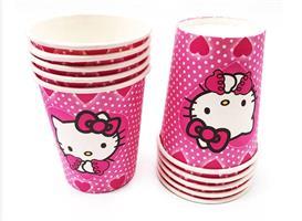 10stk Papirkopp - Hello Kitty