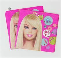 10 Stk Barbie Serviett med gratis leke mask