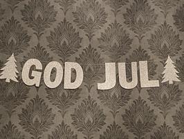 Banner - God Jull Gltrende Sølv