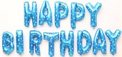 Folie - Happy Birthday / blå