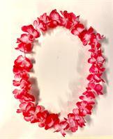 Hawaii Krans Mørk rosa og hvit