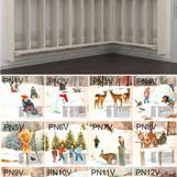 Vinter 12 olika motiv