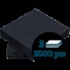 Lautasliina 40x40cm 1/4 3-k Musta 2000kpl