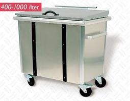 Avfallsbeholder 600 liter Aluminium