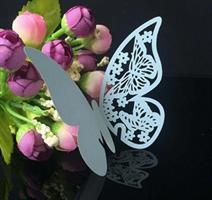 Bordkort - Lys Blå sommerfugl