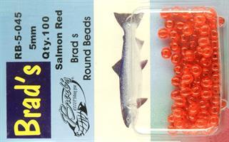 Brad`s Round Beads Salmon Red 5mm 100st