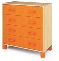 Ornö låg med 8 lådor Orange
