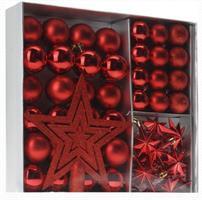 Jul kuler og stjerne 45 DEL - Rød