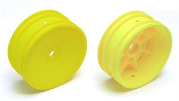 Buggy Front Hex Wheels, 2.2 in/12 mm, yellow, 2wd