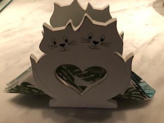Servettställ Katt