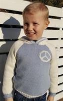 Garnpakke Peace & Love genser med hette