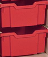Plastback / mellan röd
