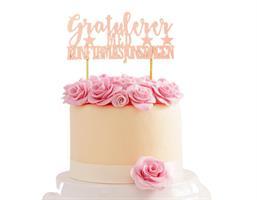 Kaketopper-Gratulerer med Konfirmasjonsdagen Rosa