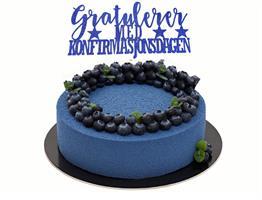 Kaketopper-Gratulerer med Konfirmasjondagen Blå