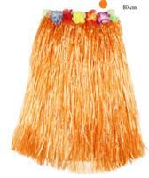Hawaii Hula Skjørt 80 cm Oransj