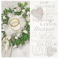 Serviett Bryllup-Happiness and love