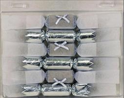 Knall bon bon Hvit-sølv 11cm