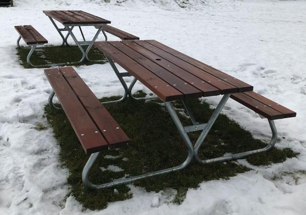 Picknick bord robust Brun