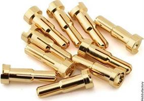 4/5MM DUAL BULLET GOLD PLUG MALE (2ST)
